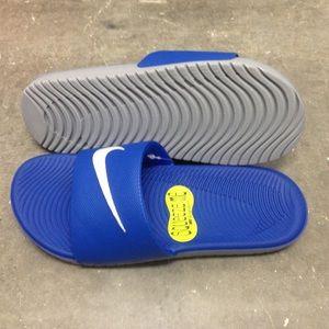 84d28a70fe59 Nike Shoes - NIKE KAWA SANDALS GS PS SWOOSH ROYAL BLUE YOUTH